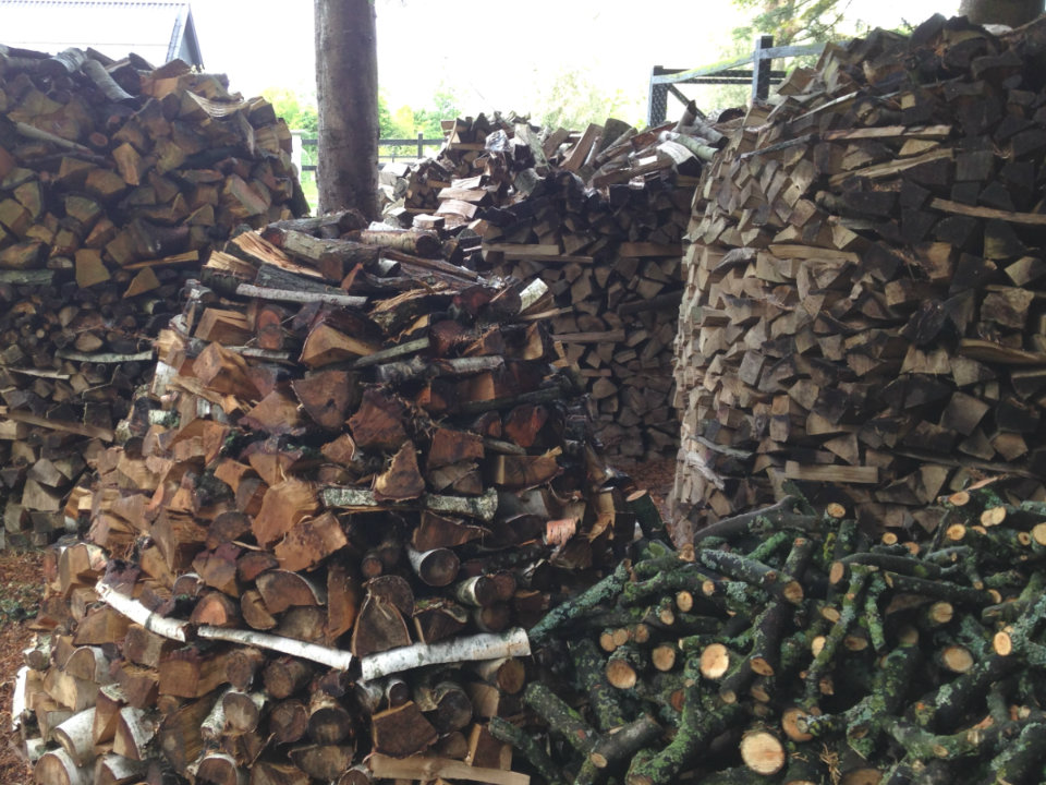 Woodpile how to stack and dry wood aduro - Ranger son bois sur palette ...